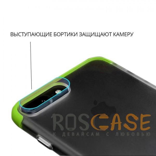 Изображение Зеленый Rock Cheer | Силиконовый чехол для iPhone 7 Plus / 8 Plus с защитными цветными вставками
