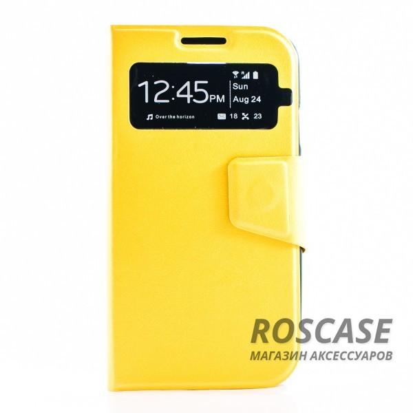 Чехол (книжка) с TPU креплением для Samsung i9500 Galaxy S4 (Желтый)Описание:производитель - бренд&amp;nbsp;Epik;разработан для Samsung i9500 Galaxy S4;материал: искусственная кожа;тип: чехол-книжка.&amp;nbsp;Особенности:имеются функциональные вырезы;магнитная застежка;защита от ударов и падений;окошко в обложке;не скользит в руках.<br><br>Тип: Чехол<br>Бренд: Epik<br>Материал: Искусственная кожа