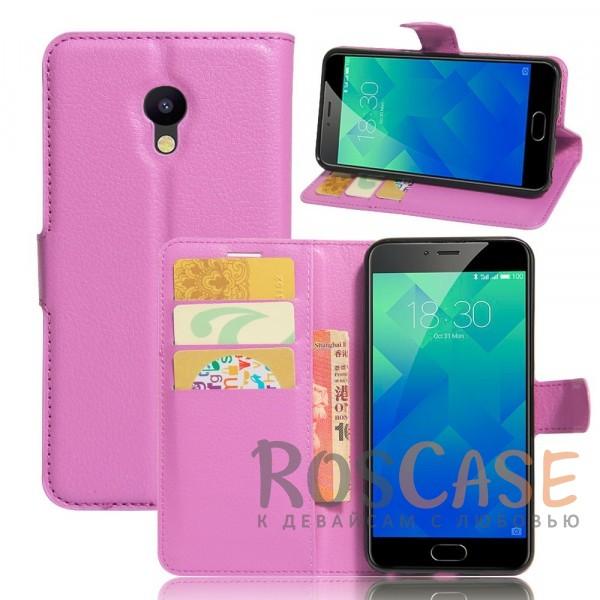 Wallet   Кожаный чехол-кошелек с внутренними карманами для Meizu M5 (Фиолетовый)Описание:производитель  - &amp;nbsp;Epik;совместим с Meizu M5;материалы  -  искусственная кожа, TPU;форма  -  чехол-книжка.&amp;nbsp;Особенности:фактурная поверхность;предусмотрены все функциональные вырезы;кармашки для визиток/кредитных карт/купюр;магнитная застежка;защита от механических повреждений;трансформируется в подставку.<br><br>Тип: Чехол<br>Бренд: Epik<br>Материал: Искусственная кожа