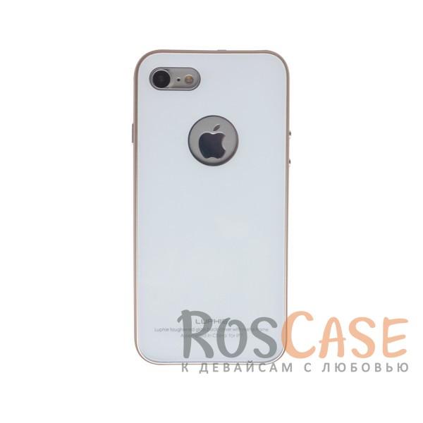 Металлический бампер Luphie с акриловой вставкой для Apple iPhone 7 (4.7) (Золотой / Белый)Описание:бренд -&amp;nbsp;Luphie;материал - алюминий, акриловое стекло;совместим с Apple iPhone 7 (4.7);тип - бампер со вставкой.Особенности:акриловая вставка;прочный алюминиевый бампер;в наличии все вырезы;ультратонкий дизайн;защита устройства от ударов и царапин.<br><br>Тип: Чехол<br>Бренд: Luphie<br>Материал: Металл