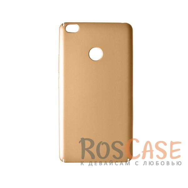 Пластиковая накладка soft-touch с защитой торцов Joyroom для Xiaomi Mi Max (Золотой)<br><br>Тип: Чехол<br>Бренд: Epik<br>Материал: Пластик