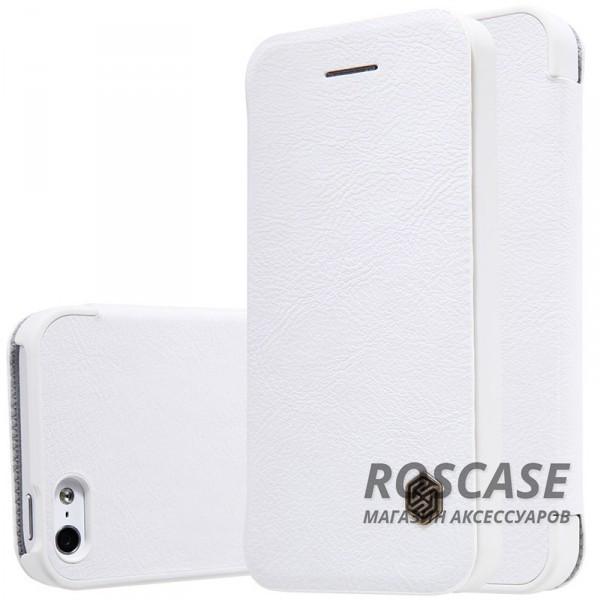 Кожаный чехол (книжка) Nillkin Qin Series для Apple iPhone 5/5S/SE (Белый)Описание:производитель:&amp;nbsp;Nillkin;разрабонат для Apple iPhone 5/5S/SE;материал: натуральная кожа;тип: чехол-книжка.&amp;nbsp;Особенности:элегантный дизайн;ультратонкий;фактурная поверхность;внутренняя отделка микрофиброй.<br><br>Тип: Чехол<br>Бренд: Nillkin<br>Материал: Натуральная кожа