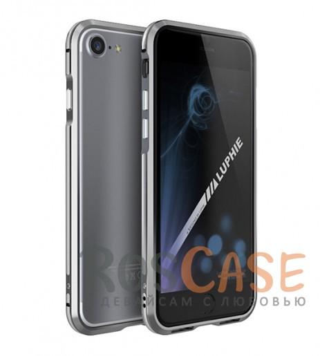Алюминиевый бампер Luphie Blade Sword для Apple iPhone 7 (4.7) (Серый / Серебряный)Описание:бренд -&amp;nbsp;Luphie;материал - алюминий;совместим с Apple iPhone 7 (4.7);тип - бампер.Особенности:двухцветный дизайн;усиливает звук;прочный алюминий;в наличии все вырезы;ультратонкий дизайн;защита граней от ударов и царапин.<br><br>Тип: Чехол<br>Бренд: Luphie<br>Материал: Металл