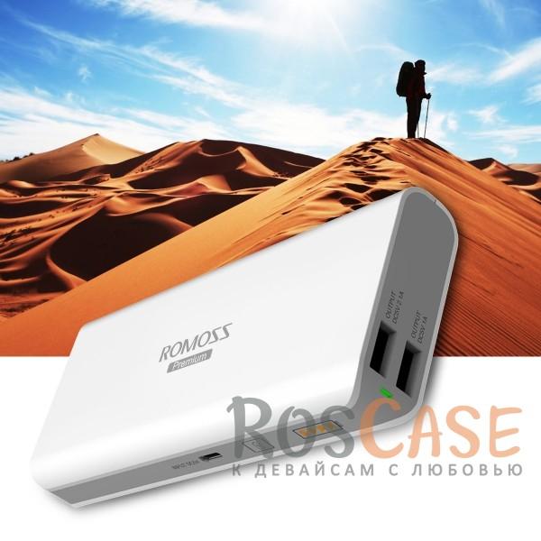 Дополнительный внешний аккумулятор ROMOSS Sailing 5/Samsung SDI (13000mAh 2 USB 2.1A+1.0 А) (Белый)Описание:производитель  -  Romoss;совместимость  -  универсальная (смартфон, плеер, планшет и др.);материалы  -  ABS;тип  -  внешний аккумулятор.&amp;nbsp;Особенности:емкость  -  13000 mAh;вход  -  5V/2.1A, выход - 5V/1A + 5V/2.1A;заряжается в течение 8-ми часов;размер  -  138*62*21,5 мм;вес  -  296 г;индикатор заряда;2 входа USB;функция быстрой зарядки;кабель microUSB в комплекте.<br><br>Тип: Внешний аккумулятор<br>Бренд: ROMOSS