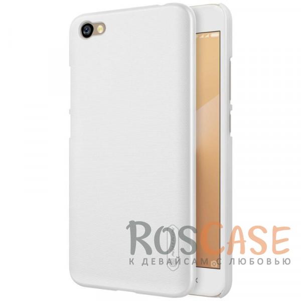 Матовый чехол Nillkin Super Frosted Shield для Xiaomi Redmi Note 5A / Redmi Y1 Lite (+ пленка) (Белый)Описание:бренд&amp;nbsp;Nillkin;совместимость: Xiaomi Redmi Note 5A&amp;nbsp;/&amp;nbsp;Redmi Y1 Lite;материал: поликарбонат;тип: накладка;закрывает заднюю панель и боковые грани;защищает от ударов и царапин;рельефная фактура;не скользит в руках;ультратонкий дизайн;защитная плёнка на экран в комплекте.<br><br>Тип: Чехол<br>Бренд: Nillkin<br>Материал: Поликарбонат