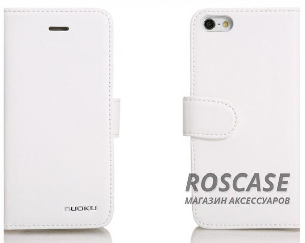 Кожаный чехол Nuoku Vogue (книжка) для Apple iPhone 5/5S/5C/SE (+ пленка) (Белый)Описание:компания-производитель  - &amp;nbsp;Nuoku;создан специально для Apple iPhone 5/5S/5SE/5C;материал  -  кожа;чехол исполнен в виде книжки;не подвержен деформации и выцветанию;наличие всех необходимых вырезов под камеру, кнопки и системные разъемы.Особенности:шероховатая поверхность, на которой не остаются следы от пальцев;изготовлен вручную;наличие магнитной застежки;устойчивость к низким температурам;просто и быстро очищается от загрязнений.<br><br>Тип: Чехол<br>Бренд: Nuoku<br>Материал: Натуральная кожа