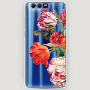 RosCase | Силиконовый чехол Весенний букет на Huawei Honor 9