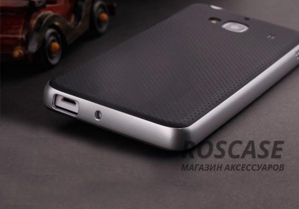 Двухкомпонентный чехол iPaky (original) Hybrid со вставкой цвета металлик для Xiaomi Redmi 2 (Черный / Серебряный)Описание:компания- разработчик: iPaky;совместимость с устройством модели: Xiaomi Redmi 2;материал изделия: термопластический полиуретан, поликарбонат;конфигурация: накладка-бампер.Особенности:элегантный дизайн;высокий класс прочности и износоустойчивости;легко и надежно фиксируется на смартфоне;имеет все необходимые функциональные вырезы.<br><br>Тип: Чехол<br>Бренд: iPaky<br>Материал: TPU