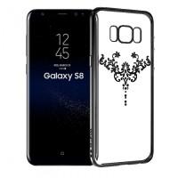 Devia Crystal Iris | Прозрачный чехол для Samsung G950 Galaxy S8 со стразами и узором