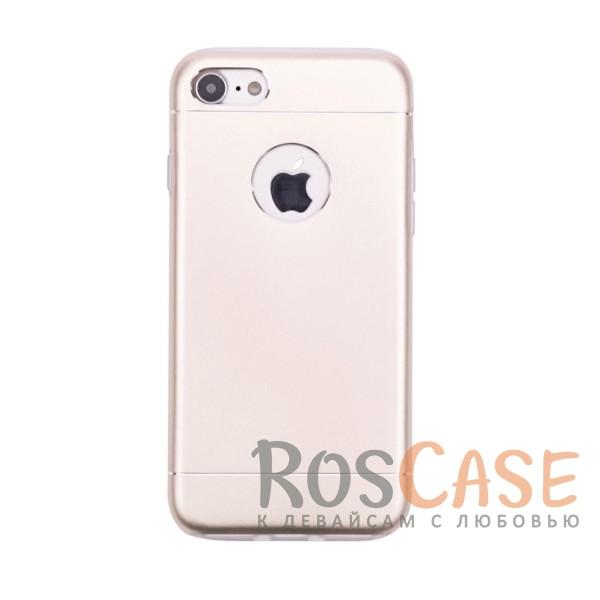 Тонкий двухслойный алюминиевый чехол с хромированными вставками и защитой кнопок для Apple iPhone 7 / 8 (4.7) (Золотой)Описание:разработан для Apple iPhone 7 / 8 (4.7);материалы - металл, термополиуретан;двухслойная конструкция;матовый на ощупь;на нем не заметны отпечатки пальцев;тип - накладка;предусмотрены все необходимые вырезы.<br><br>Тип: Чехол<br>Бренд: Epik<br>Материал: Металл