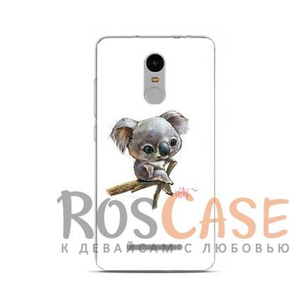 TPU чехол Sweet Art Animals для Xiaomi Redmi Note 4 (Коала)<br><br>Тип: Чехол<br>Бренд: Epik<br>Материал: TPU
