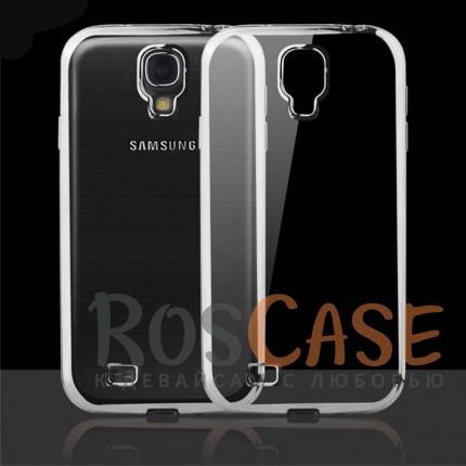 Прозрачный силиконовый чехол для Samsung i9500 Galaxy S4 с глянцевой окантовкой (Серебряный)Описание:совместим с Samsung i9500 Galaxy S4;материал - термополиуретан;тип - накладка.<br><br>Тип: Чехол<br>Бренд: Epik<br>Материал: TPU