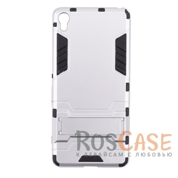 Ударопрочный чехол-подставка Transformer для Sony Xperia XA / XA Dual с мощной защитой корпуса (Серебряный / Satin Silver)Описание:чехол разработан для Sony Xperia XA / XA Dual;материалы - термополиуретан, поликарбонат;тип - накладка;функция подставки;защита от ударов;прочная конструкция;не скользит в руках.<br><br>Тип: Чехол<br>Бренд: Epik<br>Материал: Поликарбонат