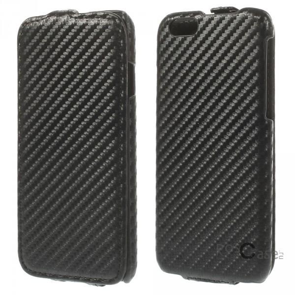 """фото кожаный чехол (флип) Carbon для Apple iPhone 6/6s (4.7"""")"""