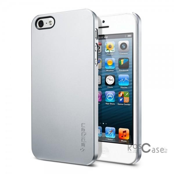 Пластиковая накладка SGP Ultra Thin Air Series для Apple iPhone 5/5S/SE (+ пленка) (Серебряный / Satin Silver / SGP09538)Описание:бренд:&amp;nbsp;SGP;совместим с Apple iPhone 5/5S/5SE;используемые материалы: поликарбонат;форма чехла: накладка.&amp;nbsp;Особенности:соблюдено полное количество прорезей под функциональные объекты;тонкое исполнение;амортизация возникающей вибрации от падения;широкая палитра цветовых оттенков;пленка в комплекте;идеально прилегает.<br><br>Тип: Чехол<br>Бренд: SGP<br>Материал: Пластик