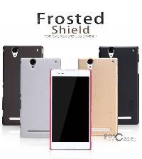 Матовый чехол Nillkin Super Frosted Shield для Sony Xperia T2 Ultra/Sony Xperia T2 Ultra DUAL (+ пленка)