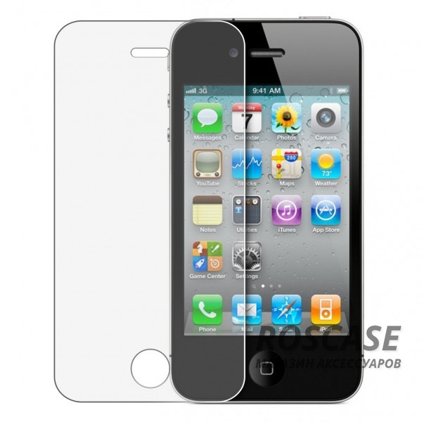 фото защитное стекло Ultra Tempered Glass 0.33mm (H+) для Apple iPhone 4/4S