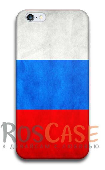 "Фото Флаг России Пластиковый чехол RosCase ""Флаги"" для iPhone 6/6s plus (5.5"")"