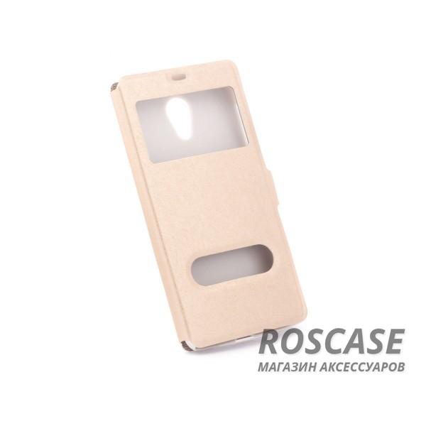 Чехол (книжка) с PC креплением для Meizu M2 / M2 mini (Золотой)Описание:разработан компанией&amp;nbsp;Epik;спроектирован для Meizu M2 / M2 mini;материалы: синтетическая кожа, поликарбонат;тип: чехол-книжка.&amp;nbsp;Особенности:имеются все функциональные вырезы;не скользит в руках;магнитная застежка;окошки в обложке;защита от ударов и падений;превращается в подставку.<br><br>Тип: Чехол<br>Бренд: Epik<br>Материал: Искусственная кожа
