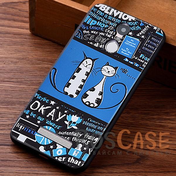 TPU чехол с принтом Cats story tales для Xiaomi Redmi Note 3 / Redmi Note 3 Pro (Синий)<br><br>Тип: Чехол<br>Бренд: Epik<br>Материал: TPU