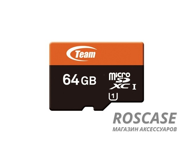 фото карта памяти Team microSDXC UHS-1 64 GB Class 10 + SD adapter
