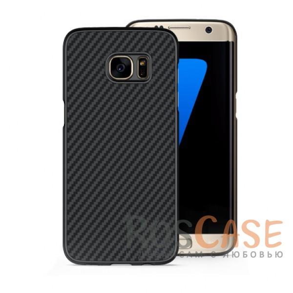 Чехол из карбона для Samsung G935F Galaxy S7 Edge (Черный)Описание:аксессуар компании&amp;nbsp;Nillkin;разработано специально для Samsung G935F Galaxy S7 Edge;материал: поликарбонат, карбоновое покрытие;тип: накладка;все функциональные вырезы имеются;прочный и износостойкий;не ухудшает качество сигнала;на нем не заметны отпечатки пальцев;не деформируется.<br><br>Тип: Чехол<br>Бренд: Nillkin<br>Материал: Пластик