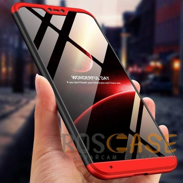 Изображение Черный / Красный GKK LikGus 360°   Двухсторонний чехол для Xiaomi Mi A2 Lite / Xiaomi Redmi 6 Pro с защитными вставками