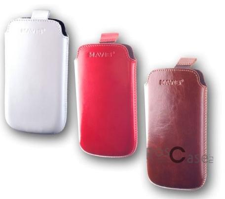 фото кожаный футляр Mavis Premium 137.4x68.2 для M7/IQ446/i9260/M1/SP/ZR/4300Duo/iPhone 6/6s (4,7)