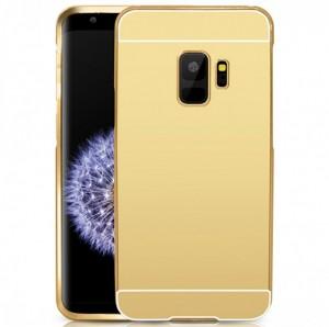 Металлический бампер для Samsung Galaxy S9 с зеркальной вставкой