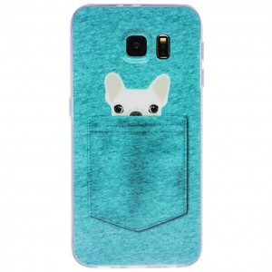 """Тонкий силиконовый чехол с принтом """"Питомцы в кармане""""  для Samsung Galaxy S7 (G930F)"""