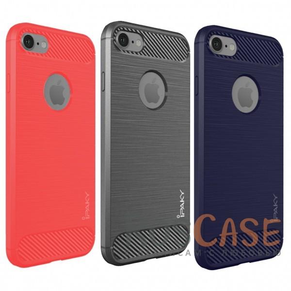 Стильный чехол с карбоновыми вставками iPaky (original) Slim для Apple iPhone 7 / 8 (4.7)Описание:бренд - iPaky;совместим с Apple iPhone 7 / 8 (4.7);материал: термополиуретан;тип: накладка.Особенности:эластичный;свойство анти-отпечатки;защита углов от ударов;ультратонкий;защита боковых кнопок;надежная фиксация.<br><br>Тип: Чехол<br>Бренд: iPaky<br>Материал: TPU