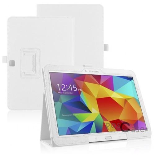 Кожаный чехол-книжка TTX c функцией подставки для Samsung Galaxy Tab 4 10.1/Galaxy Tab S 10.5 (Белый)Описание:разработка и изготовление TTX;изготовлен из синтетической кожи;фактурная поверхность;внутри отделан микрофиброй;тип конструкции: чехол-книжка;совместим с Samsung Galaxy Tab 4 10.1/Galaxy Tab S 10.5.&amp;nbsp;Особенности:износостойкий;добротный классический дизайн;может выполнять функцию подставки;широкая палитра цветов;легко очищается.<br><br>Тип: Чехол<br>Бренд: TTX<br>Материал: Искусственная кожа