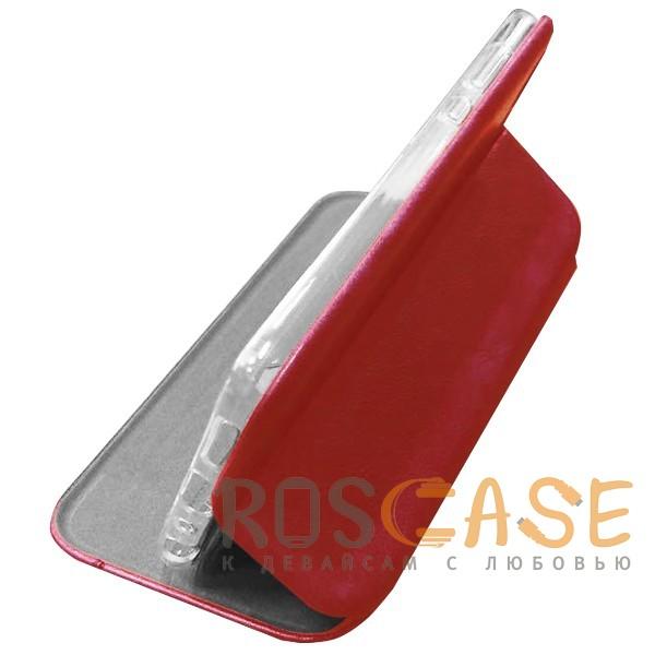 Фото Красный Open Color 2 | Чехол-книжка на магните для Huawei Honor 9 Lite с подставкой и внутренним карманом