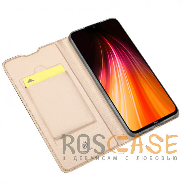 Изображение Золотой Чехол-книжка Dux Ducis с карманом для Xiaomi Redmi Note 8