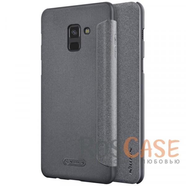 Защитный чехол-книжка Nillkin Sparkle для Samsung A530 Galaxy A8 (2018) (Черный)Описание:спроектирован для Samsung A530 Galaxy A8 (2018);материалы: поликарбонат, искусственная кожа;блестящая поверхность;не скользит в руках;предусмотрены все необходимые вырезы;защита со всех сторон;тип: чехол-книжка.<br><br>Тип: Чехол<br>Бренд: Nillkin<br>Материал: Искусственная кожа