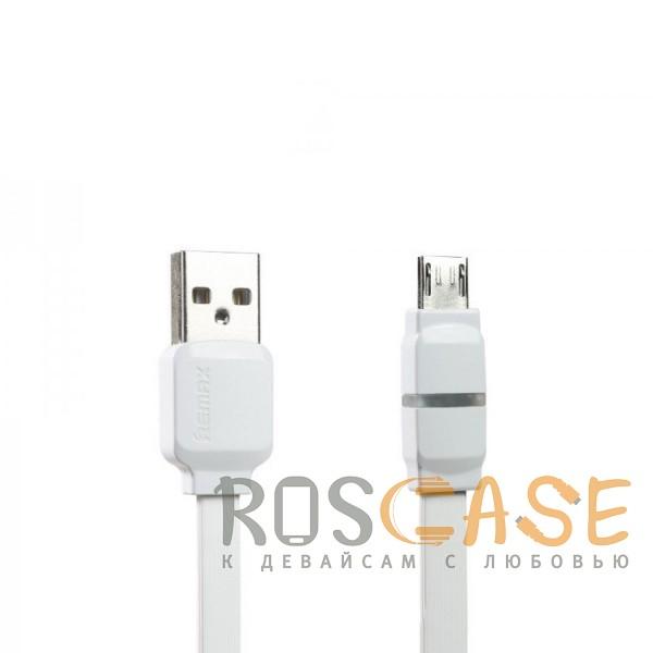Фотография Белый Remax RC-029 | Плоский дата кабель с разъемом MicroUSB (100 см)