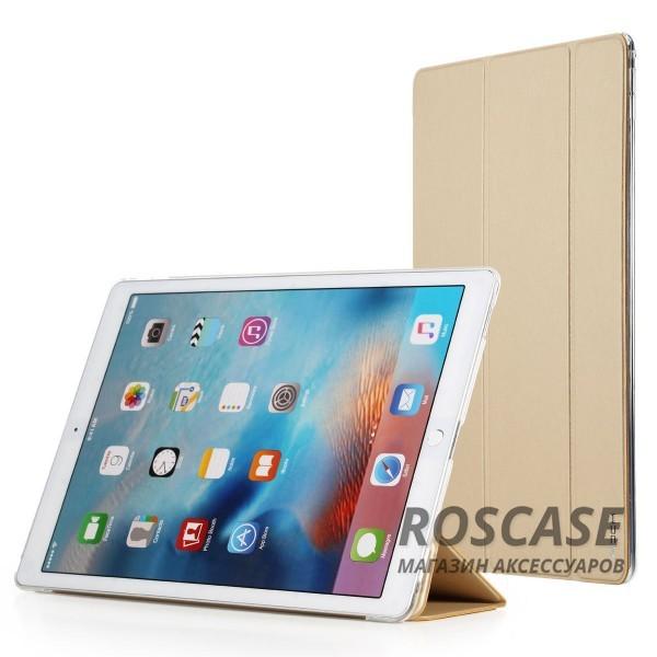 Чехол (книжка) Rock Touch series для Apple iPad Pro 12,9 (Золотой / Gold)Описание: компания разработчик: Rock;совместимость с устройством модели: Apple iPad Pro 12,9;материал изготовления: синтетическая кожа, искусственная кожа;конфигурация: чехол в виде книжки.Особенности:максимально высокая прочность и износоустойчивость;классический дизайн, сочетающий модные тренды;функция Sleep mode;длительный срок службы.<br><br>Тип: Чехол<br>Бренд: ROCK<br>Материал: Искусственная кожа