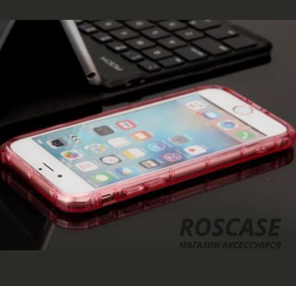 """Изображение Розовый / Transparent pink ROCK Fence   Прозрачный чехол для Apple iPhone 7 / 8 (4.7"""") из силикона"""