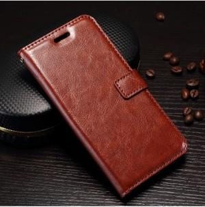 Wallet | Кожаный чехол-кошелек с внутренними карманами для OnePlus 5