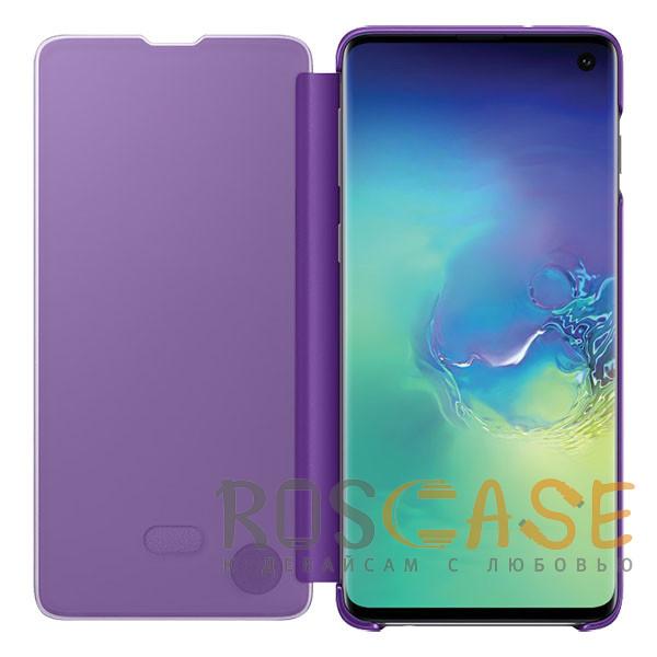 Фотография Фиолетовый Чехол-книжка Clear View Standing Cover для Samsung Galaxy A80 / A90