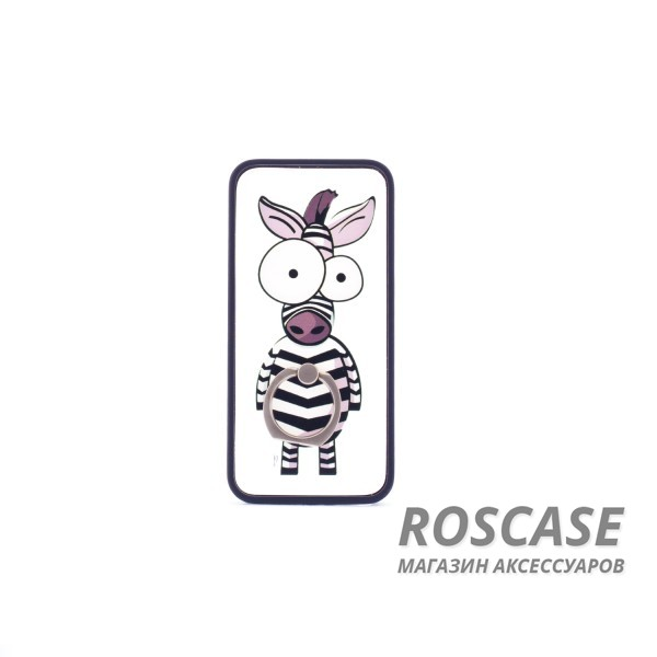 Прозрачный пластиковый чехол-подставка с уникальным принтом и кольцом-креплением для Apple iPhone 5/5S/SE (Зебра)Описание:разработан для Apple iPhone 5/5S/SE;материал: пластик;форма: накладка с кольцом.&amp;nbsp;Особенности:кольцо-подставка;функциональные вырезы;оригинальный дизайн;защита от ударов и царапин;не скользит в руках.<br><br>Тип: Чехол<br>Бренд: Epik<br>Материал: Пластик