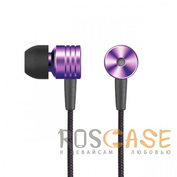 Фотография Фиолетовый JX | Металлические наушники с плетеным проводом и пультом