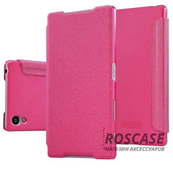 Кожаный чехол (книжка) Nillkin Sparkle Series для Sony Xperia Z5 (Розовый)Описание:производитель: Nillkin;предназначение: Sony Xperia Z5;материал: полиуретан и искусственная кожа;тип: чехол-книжка.Особенности:особая фактурная поверхность;качественная магнитная застежка;насыщенная палитра цветов;исключена быстрая деформация.<br><br>Тип: Чехол<br>Бренд: Nillkin<br>Материал: Искусственная кожа