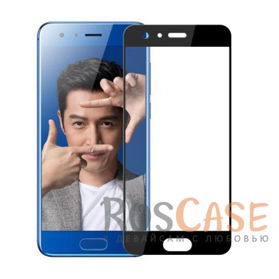 Тонкое олеофобное защитное стекло Mocolo с цветной рамкой на весь экран для Huawei Honor 9 (Черный)<br><br>Тип: Защитное стекло<br>Бренд: Mocolo