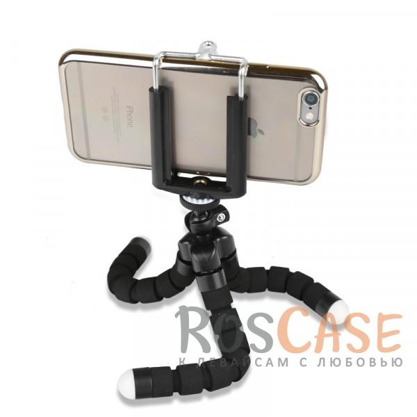 Фотография Черный Гибкий штатив Осьминог для съемки видео с креплением для телефона