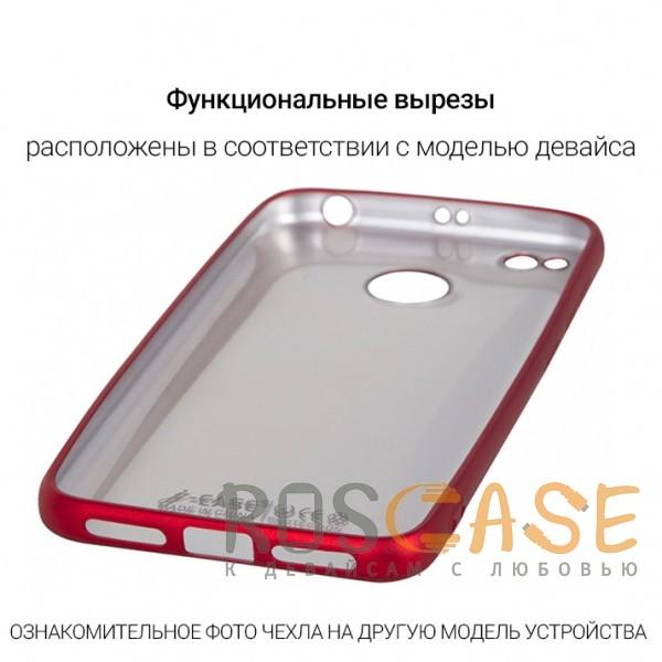 Фотография Красный J-Case THIN   Гибкий силиконовый чехол для Huawei Y7 Pro (2018)