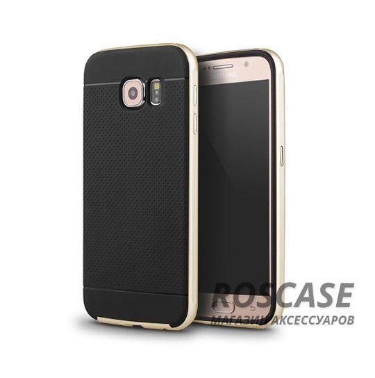 Чехол iPaky TPU+PC для Samsung Galaxy S6 G920F/G920D Duos (Черный / Золотой)Описание:компания-разработчик: iPaky;совместимость с устройством модели: Samsung Galaxy S6 G920F/G920D Duos;материал изделия: термопластический полиуретан, поликарбонат;конфигурация: накладка-бампер.Особенности:элегантный дизайн;высокий класс прочности и износоустойчивости;легко и надежно фиксируется на смартфоне;имеет все необходимые функциональные вырезы.<br><br>Тип: Чехол<br>Бренд: Epik<br>Материал: TPU