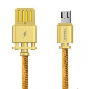 "Remax RC-064a | Дата кабель в тканевой оплетке и металлическим разъёмом USB to MicroUSB (100см) для Apple iPhone 7 Plus (5.5"")"