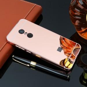 Металлический бампер для Xiaomi Redmi 5 Plus / Redmi Note 5 (Single Camera) с зеркальной вставкой