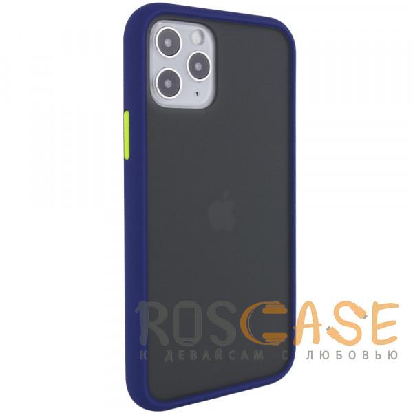 Фотография Синий Противоударный матовый полупрозрачный чехол для iPhone 12 / 12 Pro